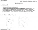 Kathryn Haueisen Writing Resume