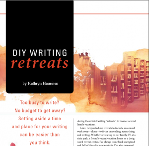 DIY Writing Retreats led by Kathryn Haueisen