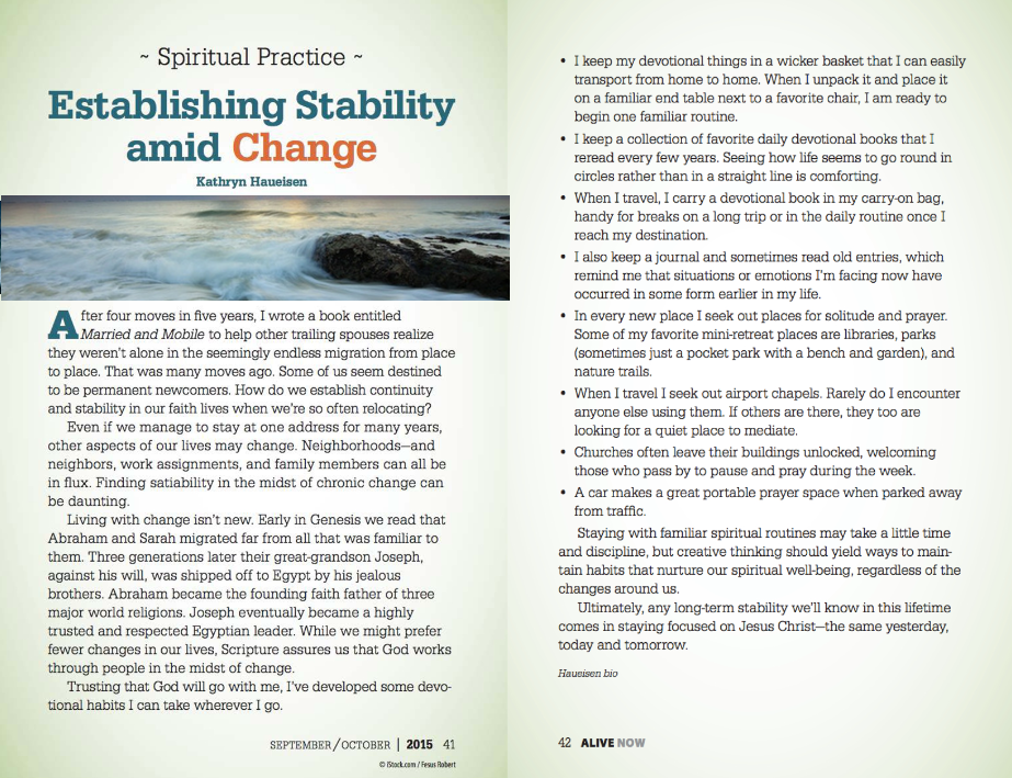 Establishing Stability Amid Change
