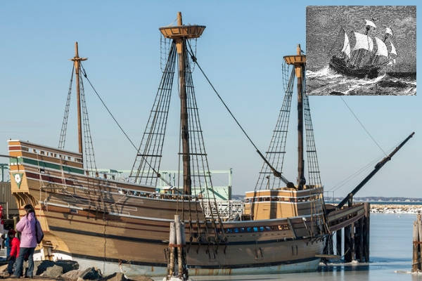 The Mayflower then and now