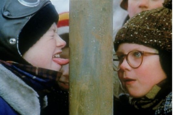A Christmas Story - tongue on post