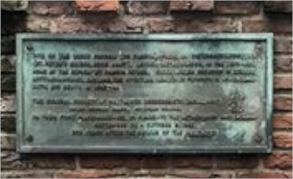 Tribute plaque to Mary Brewster